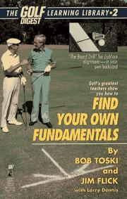 Cover of: Finding Your Own Fundamentals | Bob Toski, Jim Flick