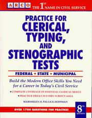 Cover of: Practice for Clerical, Typing Tests (Practice for Clerical, Typing, and Stenographic Tests) | Arco