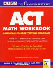 Cover of: ACT Math Wrkbk | Arco