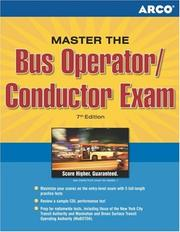 Cover of: Bus operator, conductor