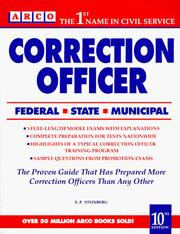 Correction officer by Eve P. Steinberg