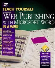 Cover of: Teach yourself Web publishing with Microsoft Word in a week | Herbert L. Tyson