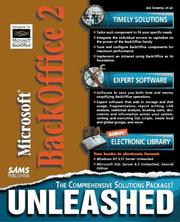 Cover of: Microsoft BackOffice 2 unleashed |