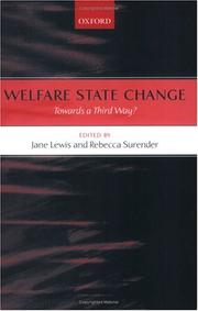 Cover of: Welfare State Change |