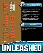 Cover of: Windows NT Server 4 unleashed | Jason Garms