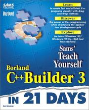 Cover of: Teach yourself Borland C++Builder 3 in 21 days | Kent Reisdorph