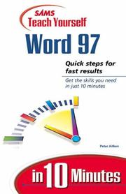Cover of: Sams teach yourself Microsoft Word 97 in 10 minutes