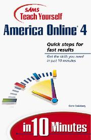 Cover of: Sams Teach Yourself America Online in 10 Minutes
