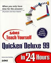 Cover of: SAMS teach yourself Quicken Deluxe 99 in 24 hours