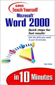 Cover of: SAMS teach yourself Microsoft Word 2000 in 10 minutes