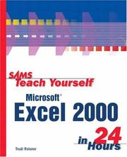 Cover of: Sams teach yourself Microsoft Excel 2000 in 24 hours
