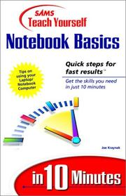 Cover of: Sams teach yourself Notebook basics in 10 minutes