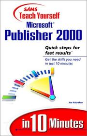 Cover of: Sams Teach Yourself Microsoft Publisher 2000 in 10 minutes