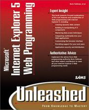 Cover of: Microsoft Internet Explorer 5 Web programming unleashed