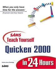 Cover of: Sams teach yourself Quicken 2000 in 24 hours