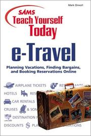 Cover of: Sams teach yourself e-Travel today