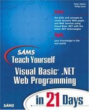 Cover of: Sams teach yourself Visual Basic .NET Web programming in 21 days