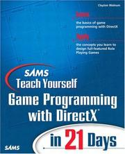Cover of: SAMS teach yourself game programming with DirectX in 21 days