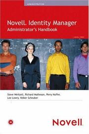 Cover of: Novell Identity Manager Administrator's Handbook