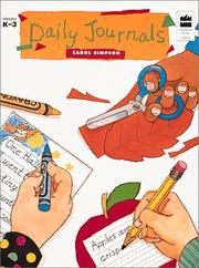 Cover of: Daily Journals (Goodyear Books, Grades K-3)