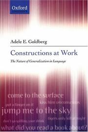 Cover of: Constructions at Work