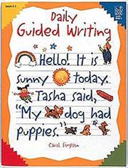 Cover of: Daily guided writing