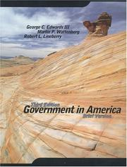 Cover of: Government in America | George C. Edwards III