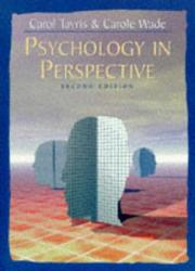 Cover of: Psychology in perspective | Carol Tavris