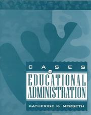Cover of: Cases in educational administration