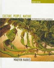 Cover of: Culture, people, nature