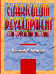 Cover of: Curriculum development for education reform