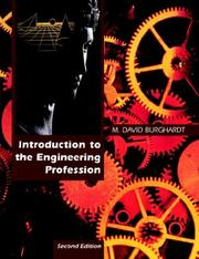 Cover of: Introduction to the Engineering Profession, Second Edition | M. David Burghardt