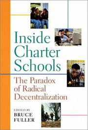Cover of: Inside charter schools |