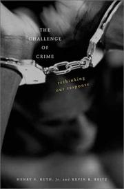 Cover of: The Challenge of Crime | Henry S. Ruth