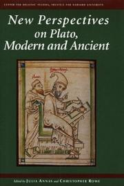 Cover of: New perspectives on Plato, modern and ancient