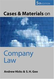 Cover of: Cases and Materials on Company Law