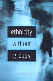 Cover of: Ethnicity without Groups