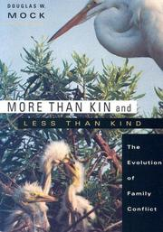 Cover of: More than Kin and Less than Kind