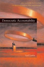 Cover of: Democratic accountability