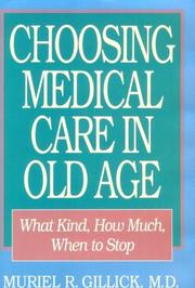 Cover of: Choosing medical care in old age