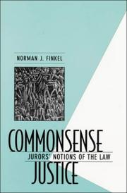 Commonsense Justice by Norman J. Finkel