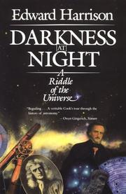 Cover of: Darkness at Night | Edward Harrison