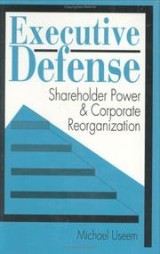 Cover of: Executive defense | Michael Useem