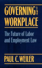 Cover of: Governing the workplace