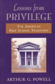 Cover of: Lessons from Privilege | Arthur Powell
