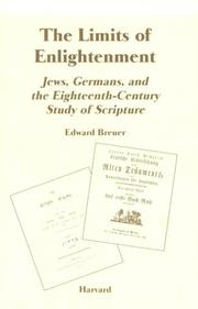 Cover of: limits of enlightenment | Edward Breuer
