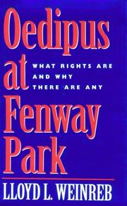Cover of: Oedipus at Fenway Park | Lloyd Weinreb