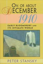 Cover of: On or About December 1910