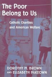 Cover of: The Poor Belong to Us | Dorothy M. Brown