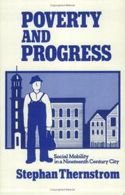Poverty and progress by Stephan Thernstrom